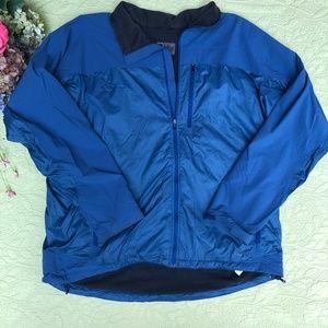 REI Blue Mesh Lined Windbreaker Jacket Men's XXL